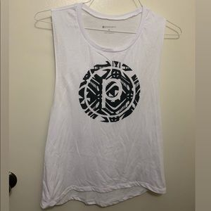 Pure Barre tank, size M, white with black pattern